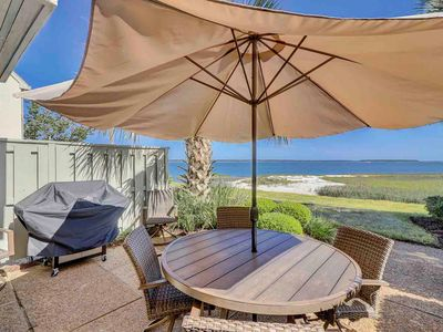 Photo for Luxury townhome w/ patio, shared pool & beautiful views of Calibogue Sound!