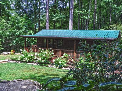 Photo for Log cabins on 16-acre wooded mountain property - perfect for outdoor adventurers