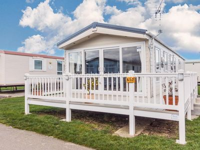 Photo for 6 berth caravan with central heating and decking at California Cliffs ref 50057