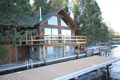 New Deck on front of Boathouse
