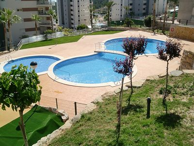 Photo for 3 bedroom Apartment, sleeps 6 in el Salt de l'Aigua with Pool, Air Con and WiFi