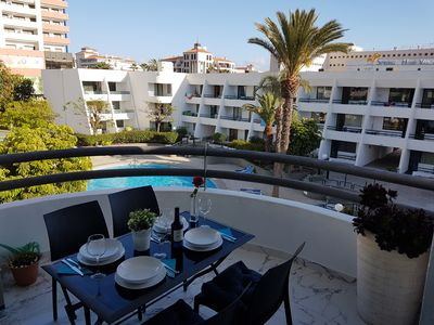 Photo for Casa Palmera just 150 meters to the beach, heated pool, wifi, SAT-TV, balcony