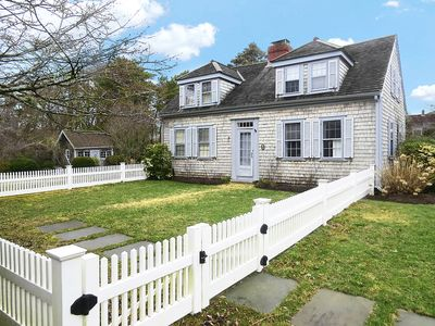 Photo for Walk to town from this lovely three bedroom/two and a half bathroom home that has the feel of old Cape Cod with a contemporary twist.