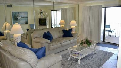 Photo for 2 BR / 2 BA beach front condo, Sleeps 6, Great Amenities, Pool, Family Friendly