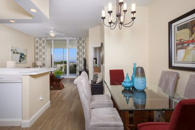 Open concept dining/living area is perfect for entertaining.