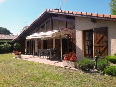 Photo for Pleasant LANDAISE HOUSE for 6 people near Lake Leon, forest and ocean.