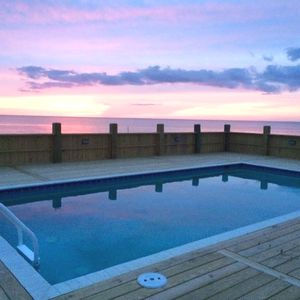 Instant detox! Enjoy the sunsets from our in- ground pool by the beach.