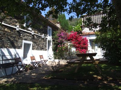 Photo for 18th century farmhouse, idyllic rural setting, spectacular views (6 km to the beach)