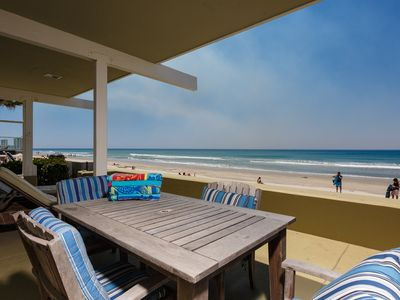 Photo for Captivating Sunset Views of Del Mar Beach from Six Bedroom Oceanfront Home