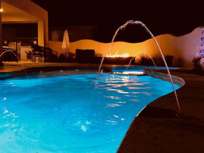 Evenings in the pool and hot tub are so amazing