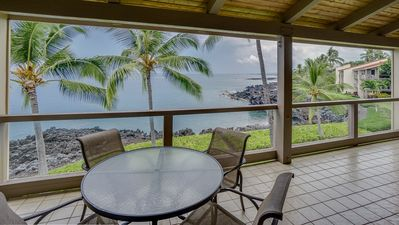 Photo for 2 BR Oceanfront Vacation w/ Large Lanai, Full Kitchen - Close to Beaches