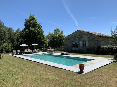 Photo for Restored Ardèche farm with heated pool