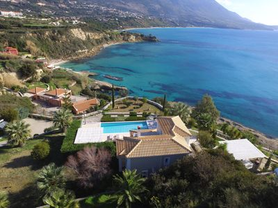 Photo for Villa Thalassa is a 3 bedroom Villa front of the sea with private swimming pool