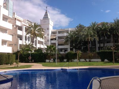 Photo for Beautiful apartment / terrace Marina / Pool / Santa Margueritha ROSES