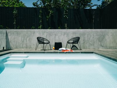 Photo for The Minimalist Retreat: Pool - Walk to Rye Beach - Pet-friendly
