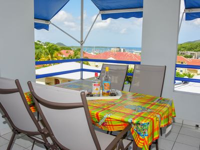 Photo for Large T2 classified 3 *** superb terrace overlooking the bay of the sailor any comfort
