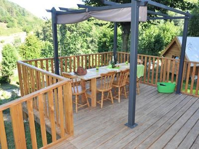 Photo for Camping Le Mas des Sedaries ** - Luxury Chalet Trapper 3 Rooms 10 People