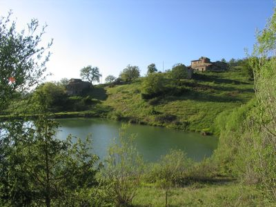 Photo for Apartment in farmhouse in 1500 in Tuscany in Chianti with private lake