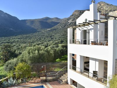 Photo for New! Secluded villa, sleeps 6, private pool & garden, aircon, close to village