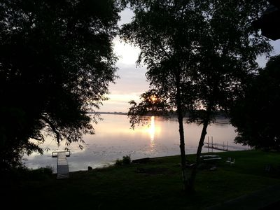 Unique Family Home Overlooking Beautiful Wind Lake With 117' Lake Frontage