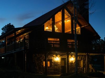 Photo for Ridge Cabin: 5 BR/3 BA  Log Home (5 Acres) in Pagosa Springs, VR18-099