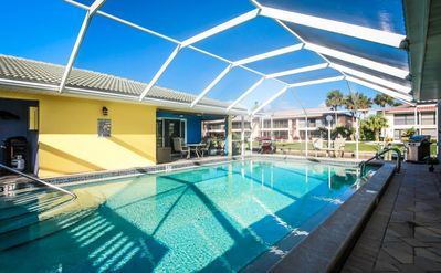 Your heated pool just steps from your private lanai