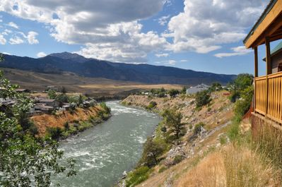 view of the Yellowstone from your deck