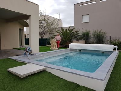 """Photo for the """"MAZAL"""" VILLA SPACIOUS 180M ² with heated pool, and 100m from the BEACH"""