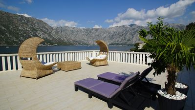 PENTHOUSE STOLIV Up to 9 beds 5 m from sea Private Jetty Terrace 95m2 Seawiev