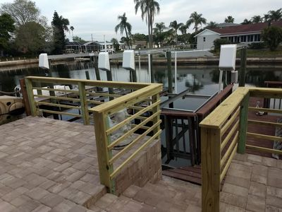 Photo for Waterfront Town-home w/Deep Water & Direct Bay access 3 Bed/2.5 Bath