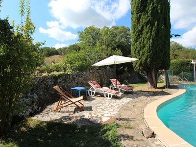 Photo for Le Patio cottage with peaceful pool near Cèze valley and Uzès