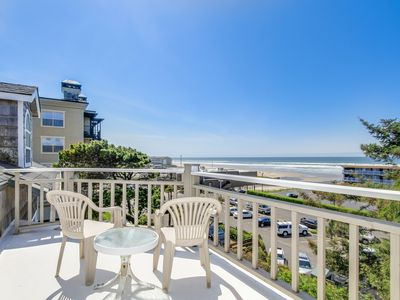 Photo for Great views of the ocean and river w/ easy beach access and hot tub - dogs OK!