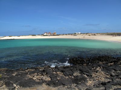 Photo for Beach apartment one step from the blue waters of Cotillo Lagoon