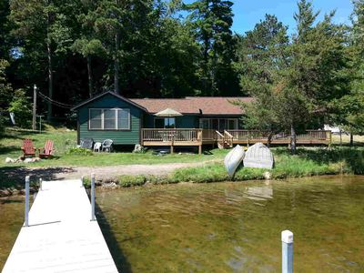 Upscale North Woods Living On Little Pelican Lake, private beach