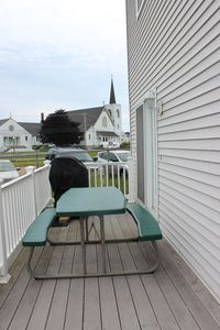 Small deck -- great for morning coffee, lunch & dinner!!