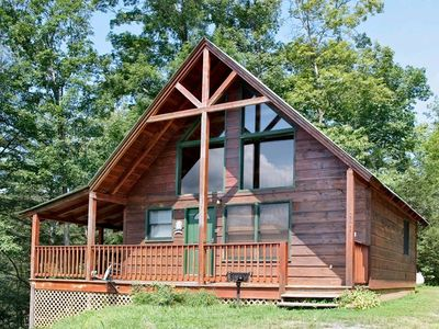 Photo for Secluded cabin minutes from downtown Gatlinburg! Book your honeymoon or couple getaway now!