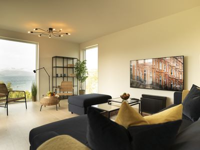 Photo for Modern Apartment With Stunning Panoramic Fjord, Forest & Mountain Views
