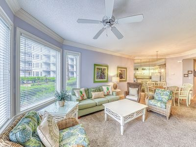 Photo for NEW LISTING! Waterfront condo w/ shared pool, hot tub & views! gym on-site!