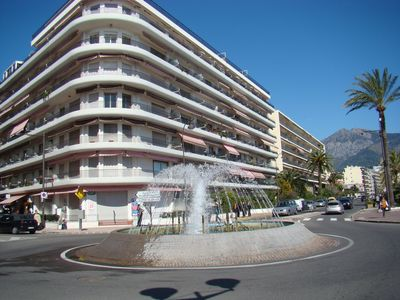 Photo for Between Monaco and Italy, in a building facing the sea, T2 refurbished and newly equipped