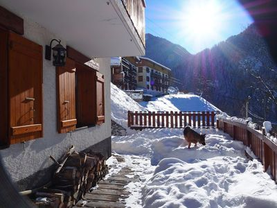 Photo for Superb bungalow overlooking the Peisey Vallandry Apartment for 6 people
