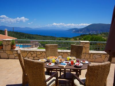 Photo for 3 bed family villa with stunning sea views and private pool