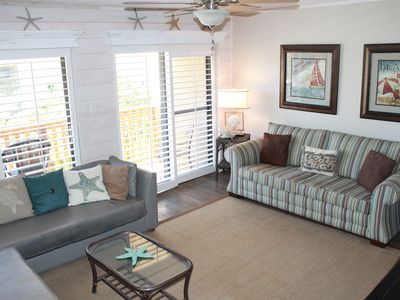Photo for Beautiful, Clean, Family Friendly Condo, Steps from the beach