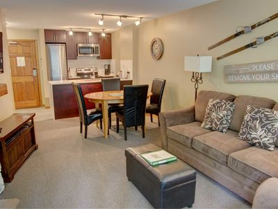 Photo for Prime Ski-in Ski-out Location! Pool, Hot tubs, BBQ, sleeps 4 (228)