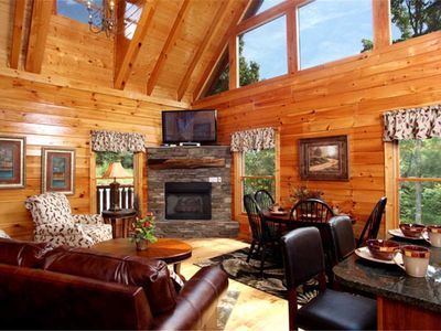 Photo for Together Again, 2 Bedrooms, Sleeps 8, View, Hot Tub, Game Room, Theater