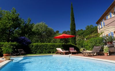Photo for Provencal farmhouse in Lorgues in quiet countryside pool and large garden