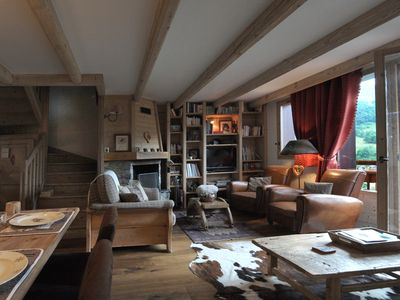 Photo for CHALET ON THE SLOPES: SKI 3 VALLEYS / HOLIDAYS WITHOUT CAR