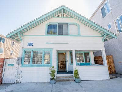 Photo for Vintage Balboa Village Vacation Cottage - Lower Unit - One House from the Beach!
