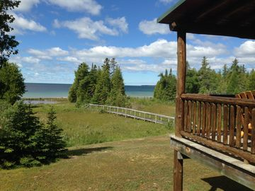 Private 4 Acre Home on Lake Michigan Minutes From Action In Downtown St. Ignace.