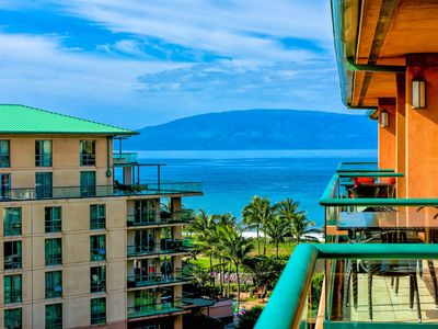 Photo for Maui Resort Rentals: Honua Kai Konea 708 – Rare Top Floor 2BR/1BA with Ocean + Mountain Views