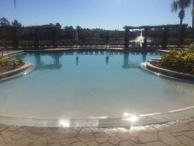 View of Main Club House Pool and 3 acre lake behind